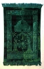 Luxurious Muslim Prayer Rug/Mat (Sajjada/Janamaz) by Safi- GREEN